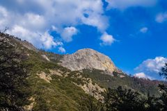 Moro rock and mountain landscape Royalty Free Stock Photos