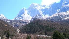 Landscape of the mountain in Siguniang National Park in Sichuan stock video footage