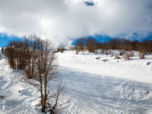 Landscape of mountain with snow Royalty Free Stock Photography