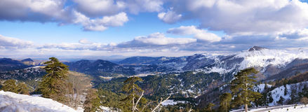 Landscape of mountain with snow Stock Photography