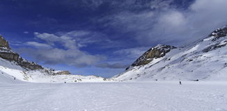 Landscape of mountain with some snow Stock Photography