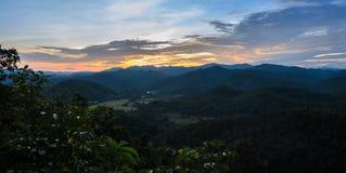 Landscape mountain sunset in Thailand Stock Photos
