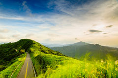 Landscape of mountain in Taipei royalty free stock image