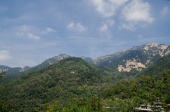 Landscape of mountain Taishan in China. Photo taken on September 10 2014 Royalty Free Stock Photography