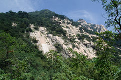 Landscape of mountain Taishan in China. Photo taken on September 10 2014 Stock Photo