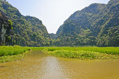 Landscape of mountain at Tam Coc Stock Photo