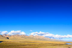 Landscape with mountain. In the Tibet Royalty Free Stock Photography