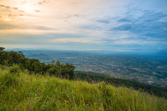 Landscape of mountain top View Stock Images