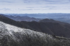 Landscape of mountain tops Royalty Free Stock Image