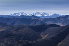 Landscape of mountain tops Royalty Free Stock Photos