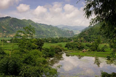 Landscape of mountain valley Royalty Free Stock Photography