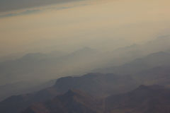 Landscape of Mountain.  view from airplane window Royalty Free Stock Photo
