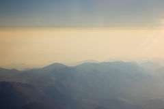 Landscape of Mountain.  view from airplane window Royalty Free Stock Photography