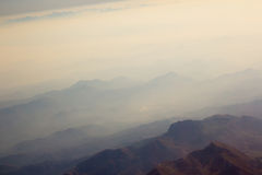 Landscape of Mountain.  view from airplane window Stock Photo