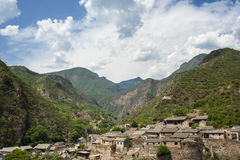 Landscape of a mountain village Royalty Free Stock Images
