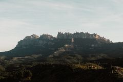 Landscape with a mountain royalty free stock images