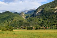 Landscape with mountains Stock Images