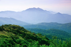 The landscape of the mountains Royalty Free Stock Images