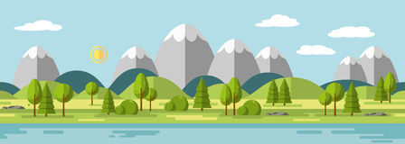 Landscape with mountains Stock Image