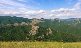 Landscape in mountains and the blue sky Royalty Free Stock Photo