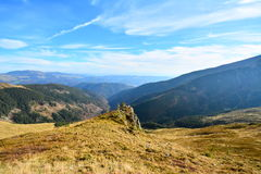 Landscape with mountains and blue sky Royalty Free Stock Images