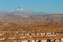 The landscape and the mountains. Of Cappadocia in Turkey Stock Photos