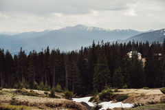 Landscape in mountains Carpathians Ukraine. Dragobrat Stock Photography