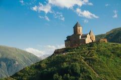 Landscape mountains castle Stock Image