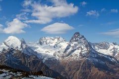 Landscape of mountains Caucasus region in Russia Stock Photo