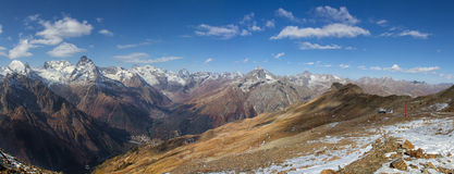 Landscape of mountains Caucasus region Royalty Free Stock Photo