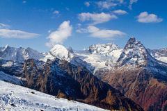 Landscape of mountains Caucasus region in Russia Royalty Free Stock Photo