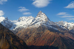 Landscape of mountains Caucasus region Royalty Free Stock Image