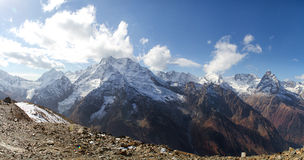 Landscape of mountains Caucasus region in Russia Royalty Free Stock Photography