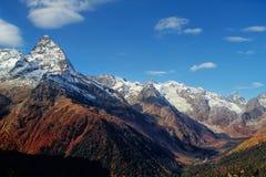 Landscape of mountains Caucasus region in Russia Stock Photos