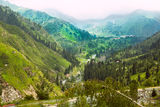 Landscape  mountains Central Asia Stock Image