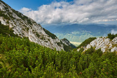 Landscape with mountains and clouds Royalty Free Stock Photos