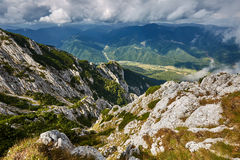 Landscape with mountains and clouds Stock Image