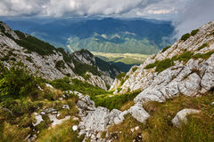 Landscape with mountains and clouds Royalty Free Stock Photo
