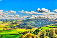 Landscape with mountains and clouds. In Sardinia Royalty Free Stock Images
