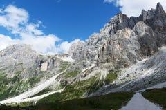 Landscape of the mountains Dolomites Royalty Free Stock Photo