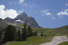 Landscape of mountains with footpath Stock Photo
