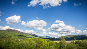 Landscape of mountains and forest Royalty Free Stock Photography