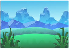 Landscape Mountains and green hills royalty free stock images