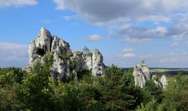 A landscape of mountains and greenery in Poland stock photography