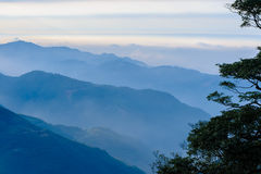 Landscape of mountains in hsinchu royalty free stock photo