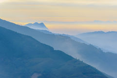 Landscape of mountains in hsinchu royalty free stock images