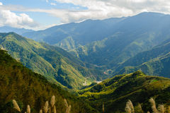 Landscape of mountains in hsinchu royalty free stock photography