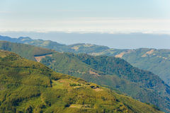 Landscape of mountains in hsinchu royalty free stock photos