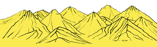 Landscape with mountains. Illustration of landscape with mountain ranges vector illustration