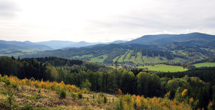 Landscape mountains Jeseniky, Czech Republic, Europe Royalty Free Stock Images